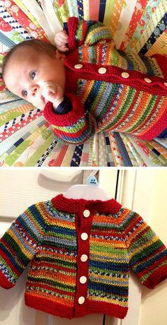 Fuss Free Baby Cardigan – Free Pattern – Knitting patterns, knitting designs, knitting for beginners. Kids Knitting Patterns, Baby Sweater Patterns, Knitting For Kids, Baby Patterns, Free Knitting, Cardigan Pattern, Baby Cardigan Knitting Pattern Free, Knitting Projects, Cardigan Bebe