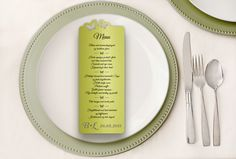 Wedding menu Butterfly wedding menu cards Personalized by CraftCut
