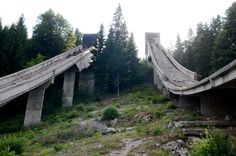 Fascinating Photos of Abandoned Olympic Sites Around the World - 1984 Olympic Ski Jump Venue — Sarajevo, Bosnia and Herzegovina