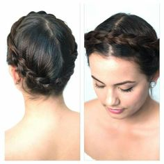 Crown headband hairstyle