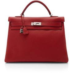 Heritage Auctions Special Collection Hermes 40Cm Rouge Casaque... ($28,500) ❤ liked on Polyvore featuring bags, handbags, hermes, bolsas, purses, rouge casaque, red leather purse, leather purses, red purse and hermes handbags