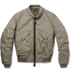 Burberry Prorsum Quilted Cotton-Blend Bomber Jacket | MR PORTER