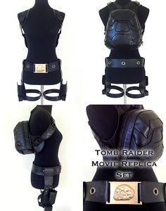 Lara Croft Tomb Raider Movie Backpack/Belt/Watch Replica Set