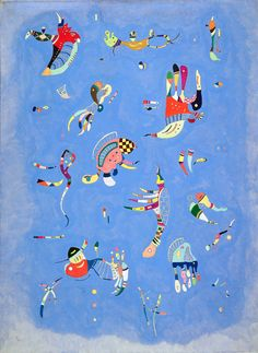 Blu di cielo (quadro di Kandinskij) #Kandinsky #QuadriFamosi #colori