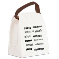 NETWORKING Canvas Lunch Bag