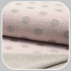French Terry 2 Face Print  Dot- roze