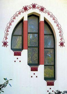 Barcelona - Camí de Cal Totxo Modernisme a Catalonia Beautiful Architecture, Art And Architecture, Architecture Details, Art Nouveau, Window View, Window Detail, Through The Window, Window Design, Gates