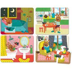 4 #Legpuzzels het #huis - La #maison #Vilac - 2 jaar #littlethingz2