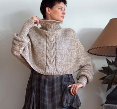 Braided CAPE with sleeves SHRUG avant garde hand by couvert, $115.00
