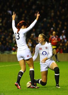 Emily Scarratt and Danielle Waterman - Rugby Heroines