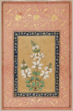 """heaveninawildflower: """" 'A Flowering Plant' (17th century). Watercolour and gold…"""