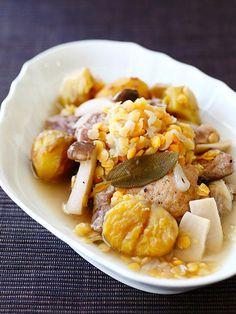 【ELLE a table】栗と豚肉とレンズ豆の煮込みレシピ エル・オンライン