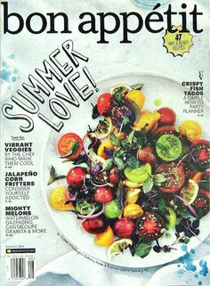 Buy any 3 of our cooking magazines and get 25% off. Bon Appetit Magazine, 47 Ripe & Ready Recipes, August 2014 Volume 59 Number 8