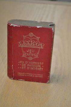 Ancien jeu de cartes LEXICON