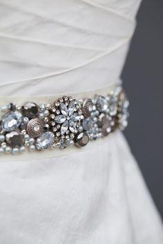 DIY Wedding // Learn how to make a rhinestone bridal sash!