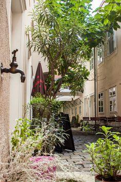 Zwischenzeit Schanigarten (c) STADTBEKANNT - Das Wiener Online Magazin Honeymoon Pictures, Heart Of Europe, Vienna Austria, Colorful, Indoor Courtyard, Prague, City