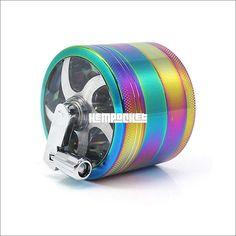 """Brazilian Pin Up Girls D3 Aluminum Herb Grinder 2.5/"""" 63mm 4 Piece"""