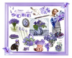 """""""Purple"""" by riagr ❤ liked on Polyvore featuring art"""