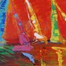 Let's Sail #525, Acrylic on Canvas, 24x30