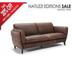 Natuzzi Editions B908 Geloso Leather Sofa