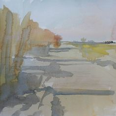 Rebecca Ryland, Yolo Basin Wetlands,  watercolour