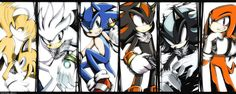Tails Silver Sonic Shadow Mephiles   Knuckles