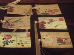 Old Post Cards  With  A  Rose Ribbon by mslizz on Etsy, $5.00