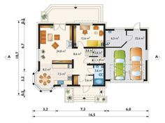 Rzut AN TURKUS CE 2nd Floor, Floor Plans, Flooring, Architecture, House, House 2, American Houses, Home Layouts, Modern Houses