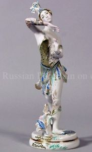 Russian Imperial Lomonosov Porcelain Figurine Ballerina T. Karsavina Firebird