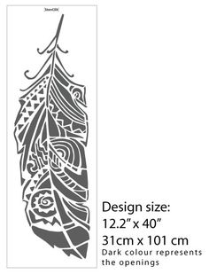 Forest Feathers Decorative Scandinavian Wall Stencil by StenCilit