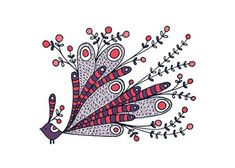 Jen Skelley Exotic Bird Gocco Print