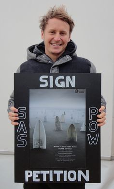 SAS Ambassador Ben Howard supporting the Protect Our Waves Petition (http://www.protectourwaves.org.uk)