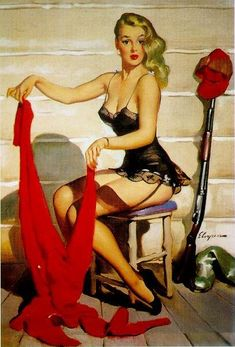 Who Me by Gil Elvgren