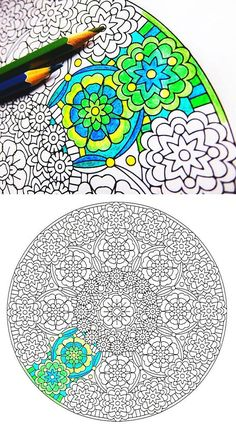 Mandala Coloring Page Forever Unfolding coloring page to print