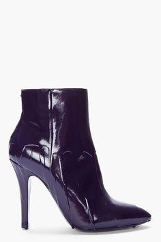 Maison Martin MARGIELA | Purple Patent Dripped Ankle Boots