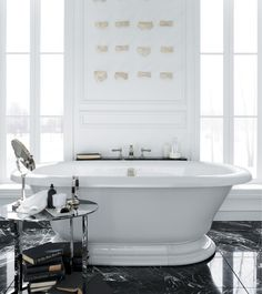 Get Inspired With Beautiful Bathrooms Featuring Freestanding Bathtubs.  These Rooms Highlight Traditional Claw Foot Baths And Modern Freestanding  Baths.