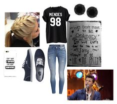 """Shawn Mendes Concert"" by hailstails ❤ liked on Polyvore featuring mode, Vans et Anne Klein"