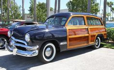 1950 Ford Woodie. Yeah - saw this likeness in person recently. In a garage in Santa Barbara. The owner, Richard, was a superb restorer (wood craft, metal craft, mechanics). And his stories about the restoration, his family, and the CAR. All marvelous memories of a nearly  extinct breed of transport.