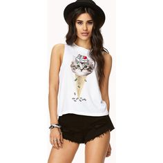 FOREVER 21 Ice Cream Kitty Muscle Tee ($14)