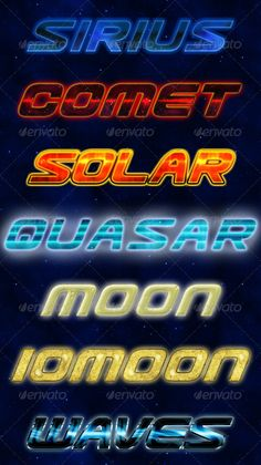 Buy Cosmic Styles by tiberiualexander on GraphicRiver. The pack contains 7 space-inspired styles which will look great in your Sci-Fi projects! The main file contains: ASL . Photoshop Text Effects, Photoshop Actions, Cosmic, Futuristic, Sci Fi, Neon Signs, Ads, Glow, Fantasy