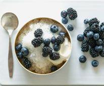 Lemonade Ice with Yogurt and Berries
