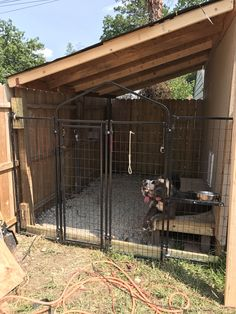 Built a dog kennel on the side of my shed #doghousekennel #dogkennel