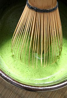 Japanese matcha tea – I'm no coffee drinker. A strong matcha tea can really push you and it doesn't taste like black coffee.