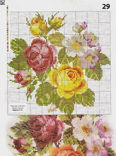 Cross Stitch Rose, Cross Stitch Embroidery, Cross Stitch Patterns, Little Designs, Needlepoint, Diy And Crafts, Free Pattern, Crafty, Poppies