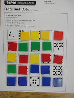 T's First Grade Class: Subitizing Partner Game - Jardim da infância Numbers Kindergarten, Math Numbers, Kindergarten Calendar, Les Mathes, Second Grade Math, Grade 1, Fun Math, Math Games, Math 2