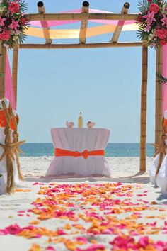 Beach Wedding Decor & Decorations...I'm more in love with the colors
