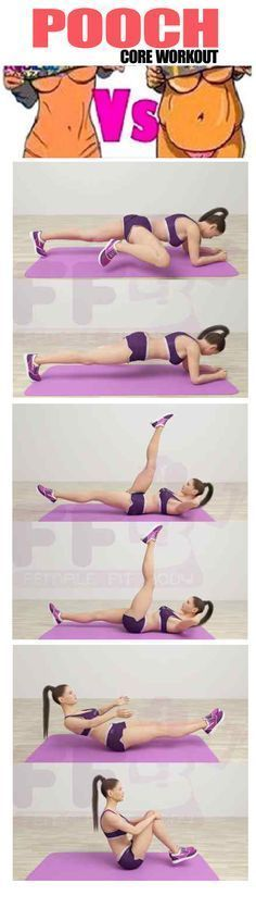 7 Exercises Lower ABS Pooch Core Workout