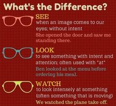 See, Look, Watch. What the difference? #English #Englishgrammar