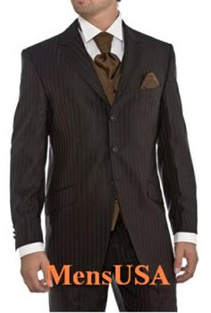 Update your pinstripe suit with our exclusive newly designed CoCo Brown Shadow Pinstripe wool Feel suit that are available at best quality and different color.