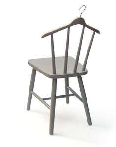 Hangchair - Creative combination of a chair and a clothing hanger via Toxel.com